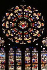 Rosace de la cathédrale d'Auxerre