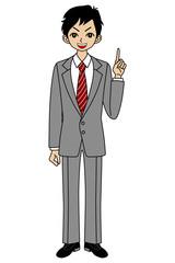 Businessman, point