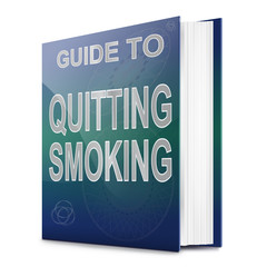 Quitting smoking concept.
