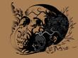 skull art tattoo