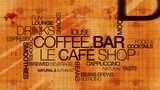 Coffee bar le cafe shop word tag cloud animation video