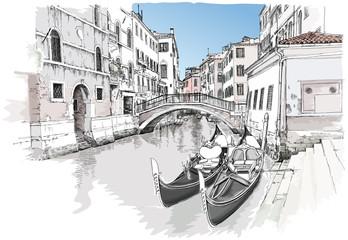 Ponte del Mondo Novo. Venice, Italy