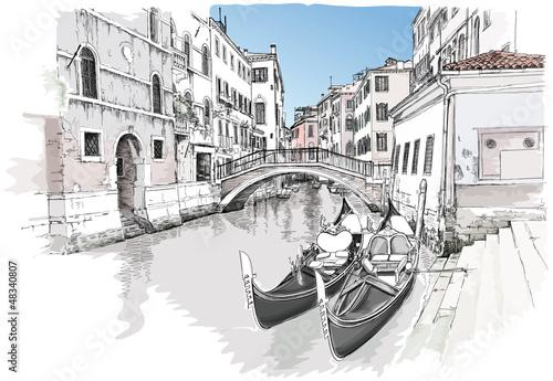 Ponte del Mondo Novo. Venice, Italy - 48340807