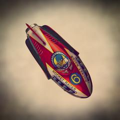retro tin rocket