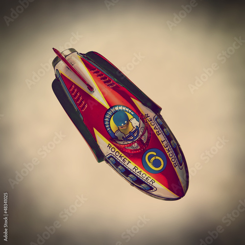 retro tin rocket