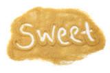 Sweet written in sugar
