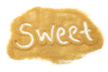 Sweet written in sugar