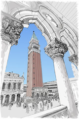 Venice - Piazza San Marco and Kampanila