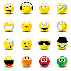 Smilies Smiley Emoticon faces icon set 2