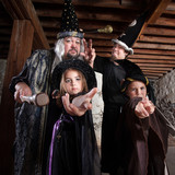 Halloween Wizard Family