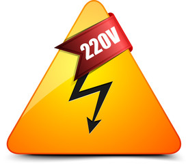 220V High voltage sign