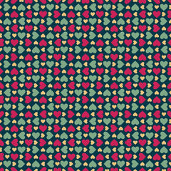 Seamless stylish pattern with hearts