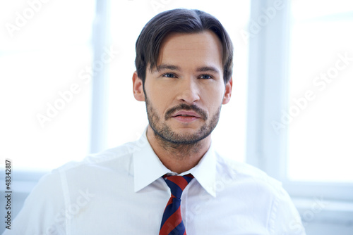 Portrait of a Caucasian young businessman