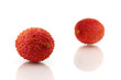 Lychee ( Litchi chinensis)  isolalted on white background