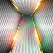 3D Abstract background grey with colorful lights