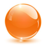 Orange glass sphere