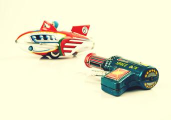 space rocket and gun