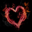 Pink Flaming Heart