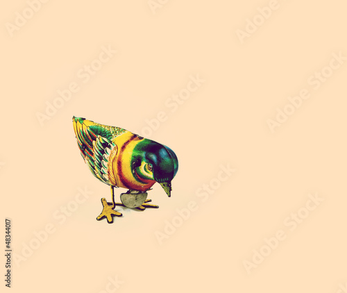 retro tin bird