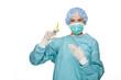 Ärztin mit einer Spritze