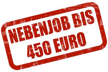 Grunge Stempel rot NEBENJOB BIS 450 EURO