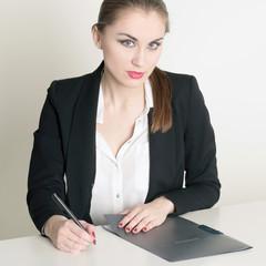 Sekretärin Portrait