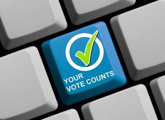Your vote counts - Ihre Stimme zählt