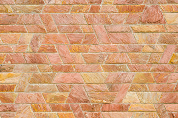 pattern of red slate stone wall surface