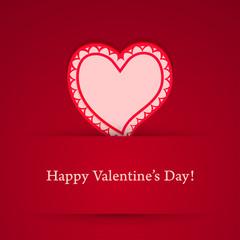 Valentine's day heart sticker.