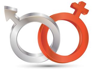 Vektor Geschlechter Symbole