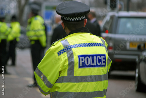 canvas print picture Police officers