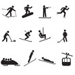 Set of winter sport icons