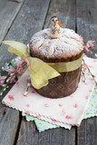 Traditional easter cake, Kulich, with angel