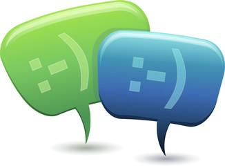 Personnage bulle en conversation