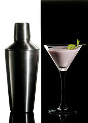 Black and white cocktail