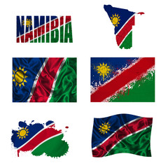 Namibia flag collage