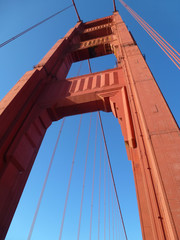 Pylon der Golden Gate Bridge