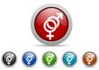 sex vector icon set