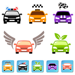 Car icon set. Vector illustration
