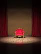 Barock Polsterstuhl auf Theater Show Bühne