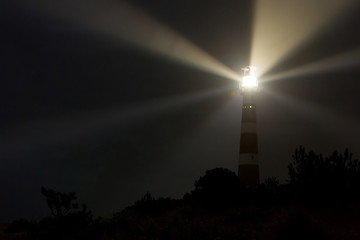 Lighthouse in the dark