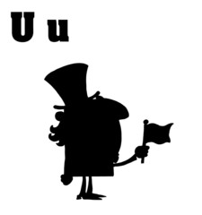 Silhouetted Uncle Sam With Letters U