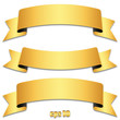 Set of gold ribbons, tapes - Goldene Banderole Sammlung