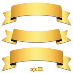 Set of gold ribbons, tapes - Goldene Banderole Sammlung