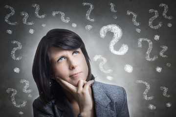 Woman With Question Marks