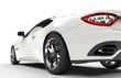 Modern Design Fast White Car