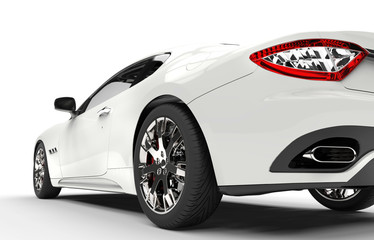 Modern Design Fast White Car