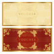 Voucher / coupon. Guilloche pattern