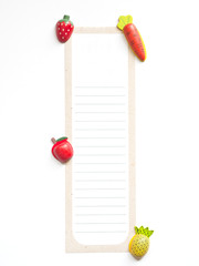 shaped and colored notepaper