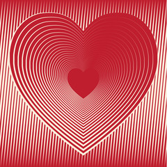 Valentines day. heart Vector Illustration.